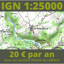 Cartographie IGN 1:25000